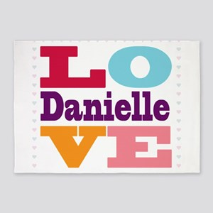I Love Danielle 5'x7'Area Rug
