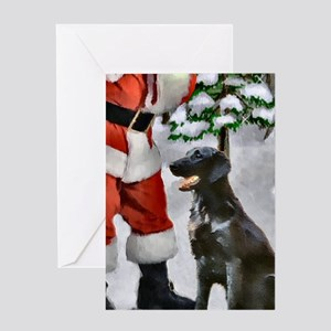 Flat-Coated Retriever Christmas Greeting Card