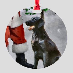 Flat-Coated Retriever Christmas Round Ornament
