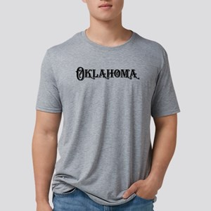 Oklahoma vintage type state Mens Tri-blend T-Shirt