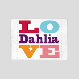 I Love Dahlia 5'x7'Area Rug