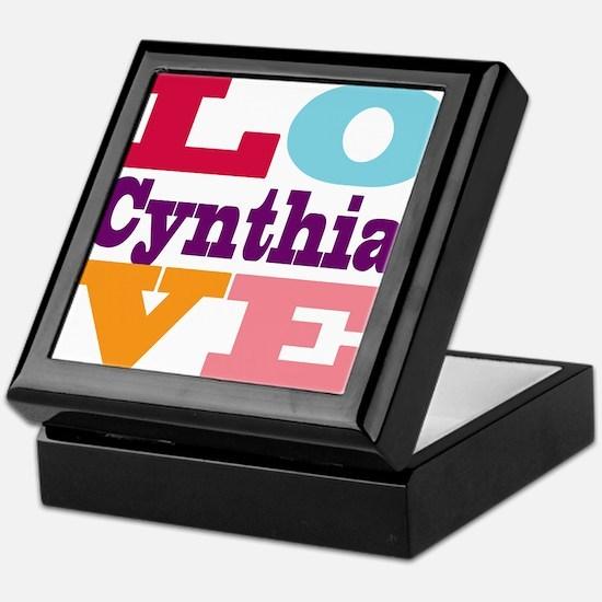 I Love Cynthia Keepsake Box