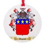 August Round Ornament
