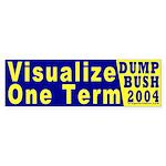 Visualize One Term Bumper Sticker