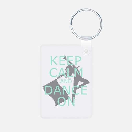 Colorguard Keep Calm and Dance On Meme Keychains