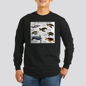 Sea Turtles of the World Long Sleeve Dark T-Shirt
