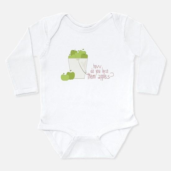 Them Apples Long Sleeve Infant Bodysuit