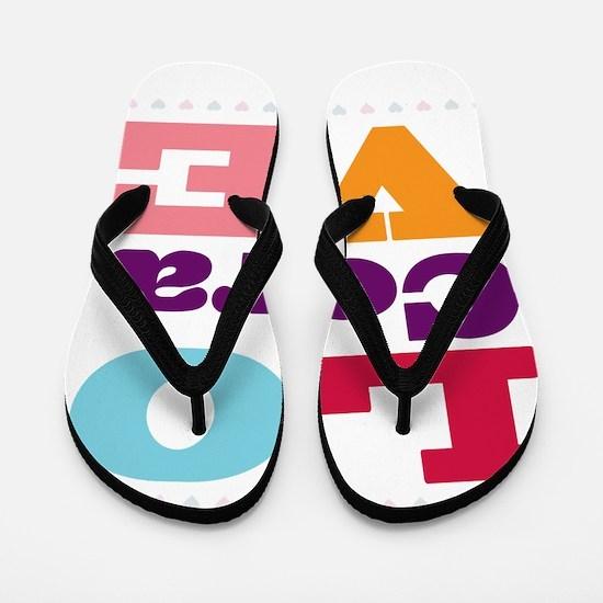 I Love Cora Flip Flops