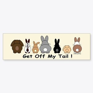 Get Off My Tail Sticker (Bumper)