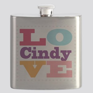 I Love Cindy Flask