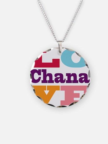 I Love Chana Necklace