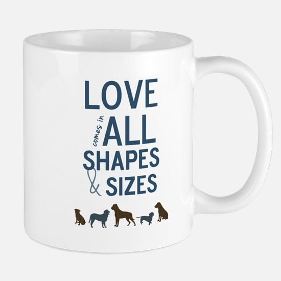 Love Comes In All Shapes & Sizes Rescue Dog Mug