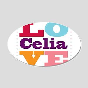 I Love Celia 20x12 Oval Wall Decal