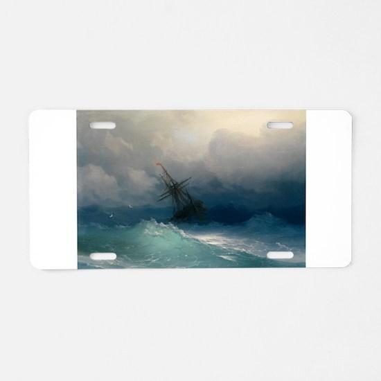 Aivazovsky - Ship on Stormy Seas Aluminum License