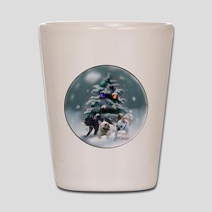 French Bulldog Christmas Shot Glass