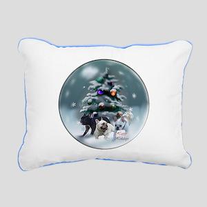 French Bulldog Christmas Rectangular Canvas Pillow