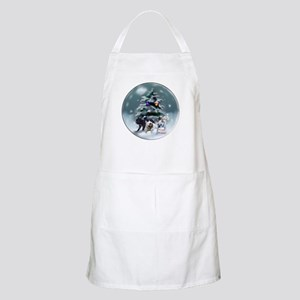 French Bulldog Christmas Light Apron