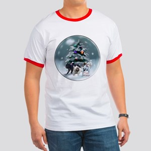 French Bulldog Christmas Ringer T