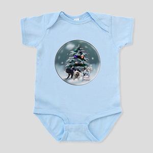 French Bulldog Christmas Baby Light Bodysuit