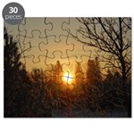 Sunrise in the Trees Puzzle