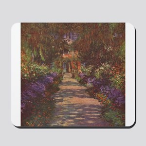 Charles Monet - Garden Path 1902 Mousepad