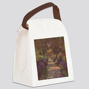 Charles Monet - Garden Path 1902 Canvas Lunch Bag