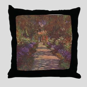 Charles Monet - Garden Path 1902 Throw Pillow