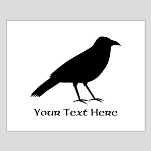 Crow and Custom Black Text. Small Poster