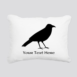 Crow and Custom Black Text. Rectangular Canvas Pil