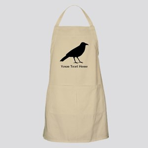Crow and Custom Black Text. Apron
