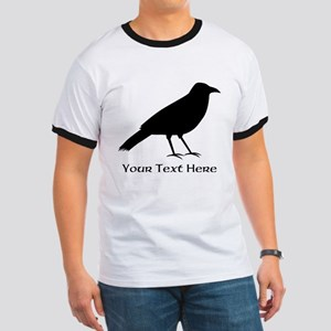 Crow and Custom Black Text. Ringer T