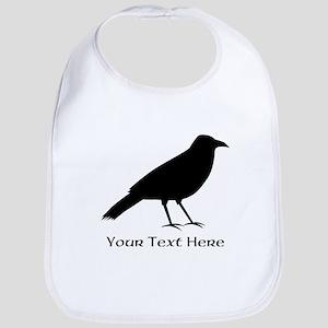 Crow and Custom Black Text. Bib