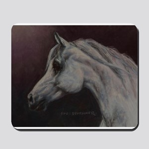 Gray Arabian Stallion Head Profile Mousepad