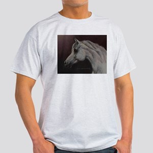 Gray Arabian Stallion Head Profile Light T-Shirt