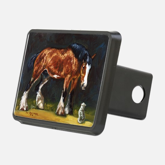 Clydesdale Horse and Cat Hitch Cover