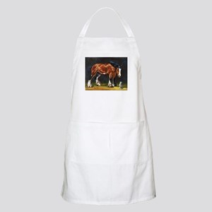 Clydesdale Horse and Cat Apron