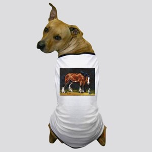 Clydesdale Horse and Cat Dog T-Shirt