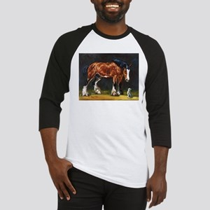 Clydesdale Horse and Cat Baseball Jersey