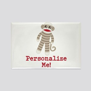 Classic Sock Monkey Rectangle Magnet