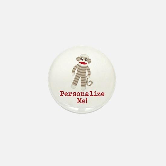Classic Sock Monkey Mini Button