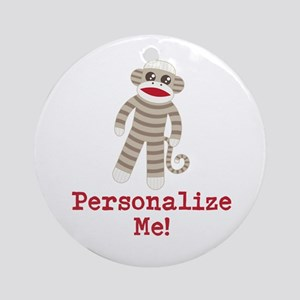 Classic Sock Monkey Ornament (Round)