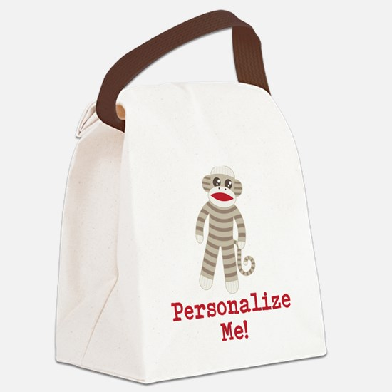 Classic Sock Monkey Canvas Lunch Bag