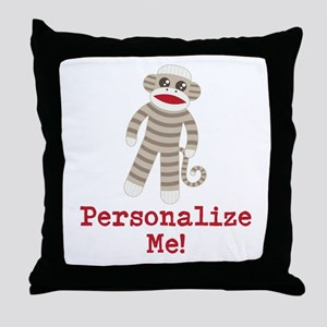 Classic Sock Monkey Throw Pillow