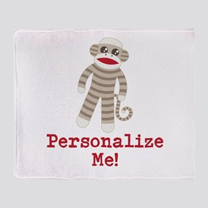 Classic Sock Monkey Throw Blanket