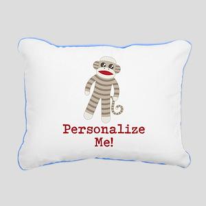 Classic Sock Monkey Rectangular Canvas Pillow
