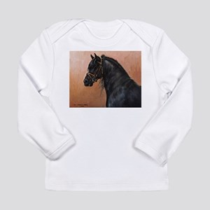 Friesian Horse Long Sleeve Infant T-Shirt