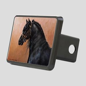 Friesian Horse Rectangular Hitch Cover