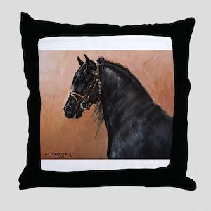 Friesian Horse Throw Pillow
