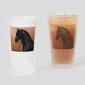 Friesian Horse Drinking Glass