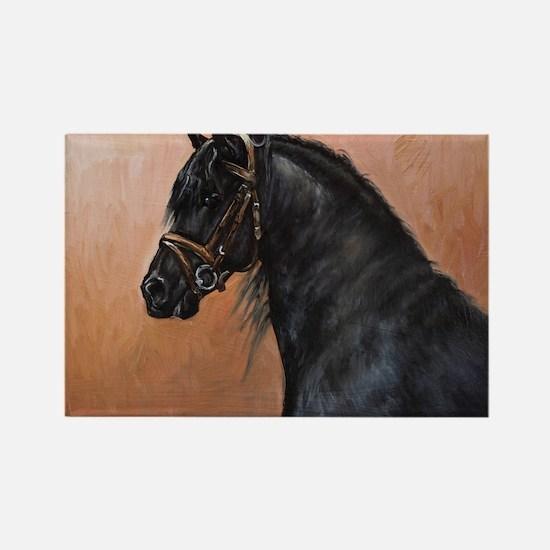 Friesian Horse Rectangle Magnet
